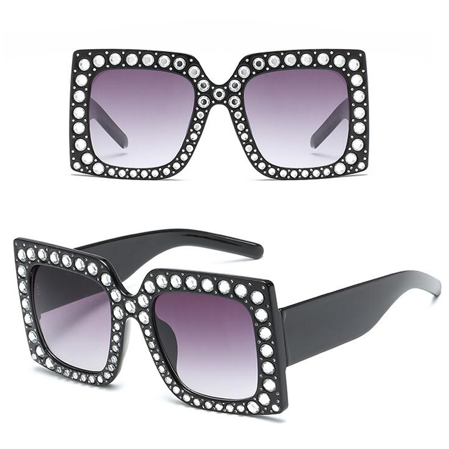 f833510a960 Quality Fashion Women Sunglasses Italy Brand Designer Glasses Big Frame  Crystal Square Diamonds Oversize Sunglasses uv400. View the full image ·  View the ...