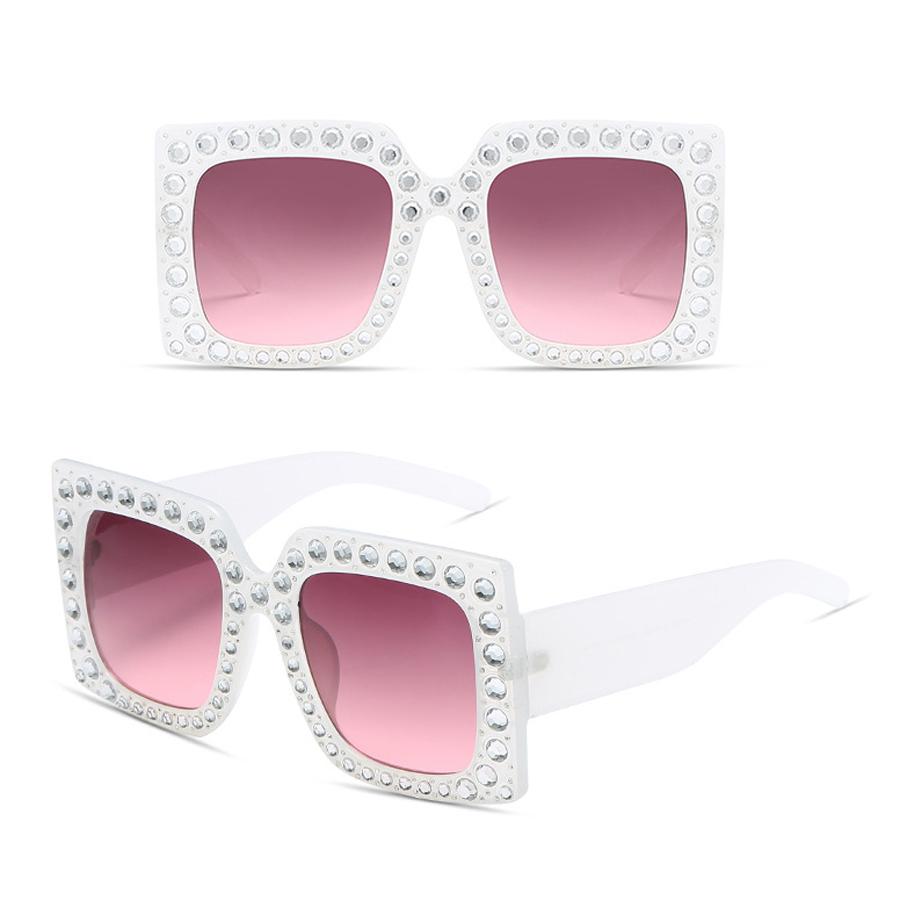 58388b85781 ... Italy Brand Designer Glasses Big Frame Crystal Square Diamonds Oversize  Sunglasses uv400. View the full image · View the full image · View the full  ...